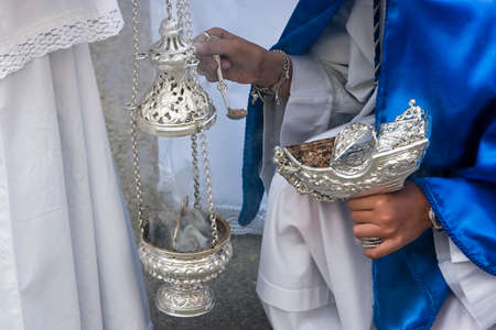 collectivity: Censer of silver or alpaca to burn incense in the holy week, Andalusia, Spain