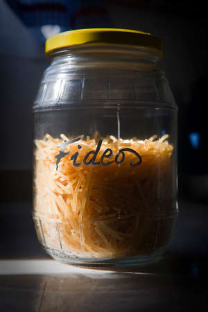 Container with glass noodles photo