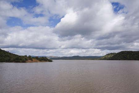 san rafael: reservoir of San Rafael de Navallana, near Cordoba, Andalusia, Spain