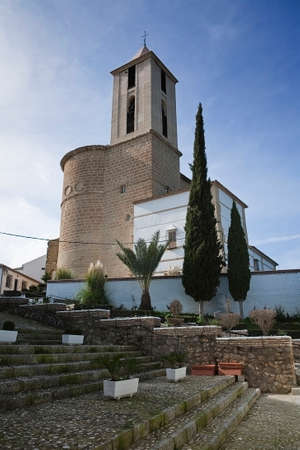 authorship: Parish Church of Santiago apostle, the work unfinished and developed from 1547 to 1638, which constituted an ambitious Renaissance project whose authorship is attributed to the young Hern�n Ruiz, Izn�jar, C�rdoba province, Andalucia, Spain Stock Photo