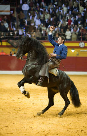 Miguel Angel Martin, bullfighter on horseback spanish, Atarfe, Granada province Spain, 1 February 2009