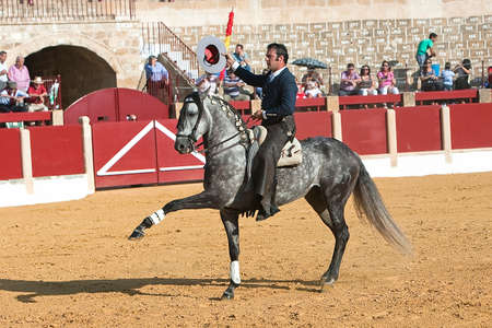 Alvaro Montes, bullfighter on horseback spanish, Ubeda, Jaen, Spain, 29 september 2011