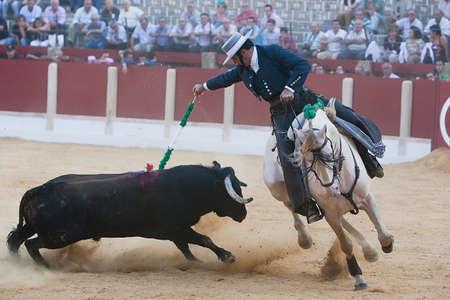 alvaro: Alvaro Montes, bullfighter on horseback spanish, Ubeda, Jaen, Spain, 29 september 2011