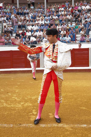 The spanish bullfighter Enrique Ponce at the paseillo or initial parade, Pozoblanco, Cordoba province, Spain, 23 september 2011 Imagens - 23706673