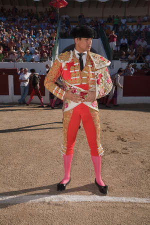 The spanish bullfighter Jose Maria Manzanares at the paseillo or initial parade, Linares, Jaen province, Spain, 28 september 2010 Imagens - 23706675