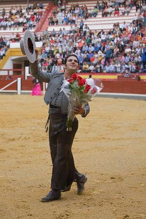 alvaro: Alvaro Montes, bullfighter on horseback spanish, Coso de la Alameda, Jaen, Spain, 13 october2008