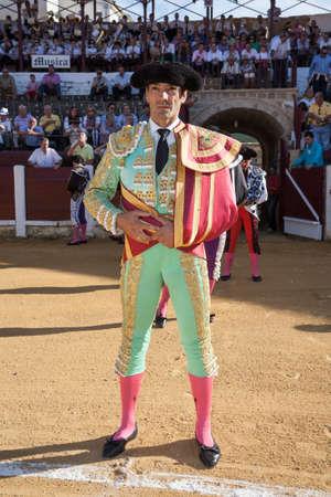 cid: Ubeda, Jaen province, SPAIN - 29 september 2010  Spanish bullfighter Manuel Jesus El Cid at the paseillo or initial parade in Ubeda, Jaen province, Spain, 29 september 2010