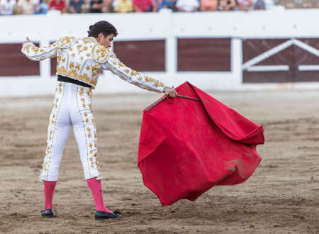 Bullfighter with the capote or cape, Spain Imagens - 31565279