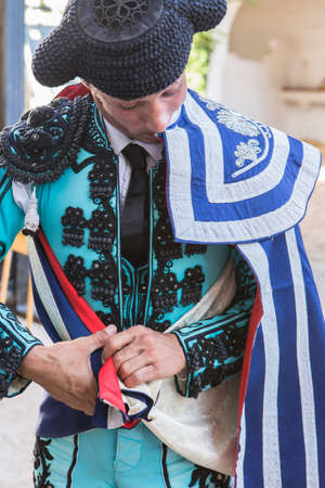 capote: Bullfighter with the capote or cape, Spain Editorial