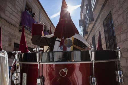 brass  band: Brass band musicians, Palm Sunday, Linares, Jaen province,  Spain