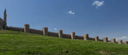 avila: Avila, SPAIN - 10 august 2015: Medieval city walls in Avila. Considered the best preserved in Europe, Avila, Spain