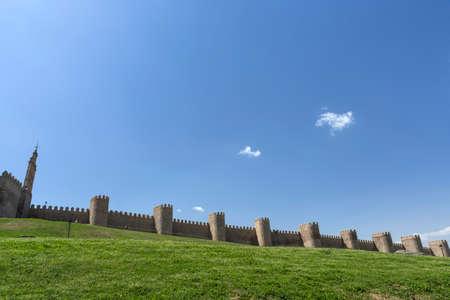 10 best: Avila, SPAIN - 10 august 2015: Medieval city walls in Avila. Considered the best preserved in Europe, Avila, Spain