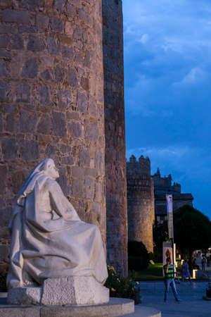 theologians: Monument of Saint Teresa of Avila, Avila, Spain Editorial