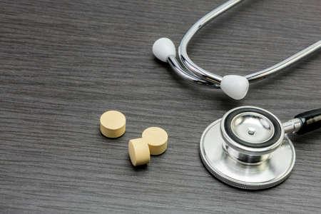 therapeutics: Phonendoscope and pill