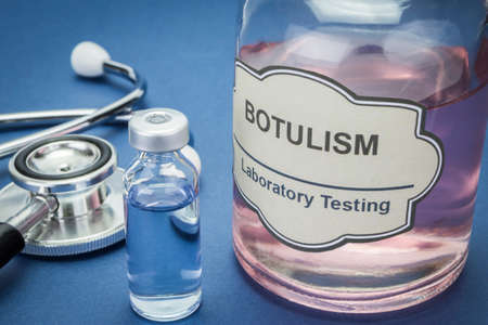 assay: Sample of botulism in laboratory, concept of health