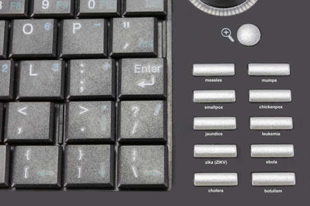 contagious: portable keyboard different contagious illnesses