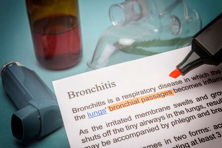 breathlessness: Bronchitis treatments Stock Photo