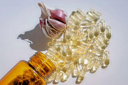 vitamin d: Garlic oil capsules, vitamins d pills
