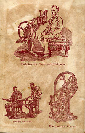 rubbing: Machine for rubbing the chest and abdomen, Special machines from the beginning of the century