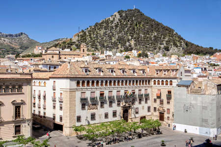 episcopal: Jaen - Spain, may 2016, 2: The episcopal head office of Jaen, The Episcopal Palace is constructed on a building of the XVth century reformed in the year 1980, take in Jaen, Spain