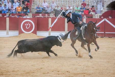 Ubeda, SPAIN - September 29, 2011: Alvaro Montes, bullfighter on horseback spanish, Ubeda, Jaen, Spain