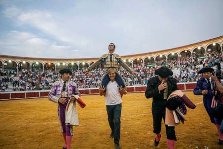 david fandila: Pozoblanco, Spain - September 23, 2011: The Spanish Bullfighter David Fandila El Fandi Exits to shoulders after having a great triumph in the bullring of Pozoblanco, Spain Editorial