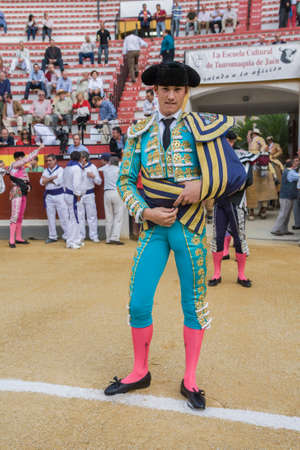 corrida de toros: Jaen, SPAIN - October 17, 2008:  The spanish bullfighter Daniel Luque at the paseillo or initial parade during a bullfight in the Bullring of Jaen, Spain
