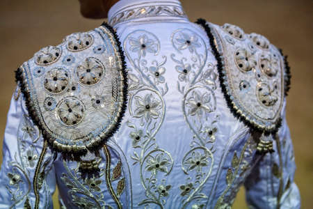 Detail of the traje de luces or bullfighter dress, Spain