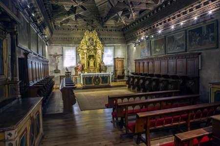 cuenca: CUENCA, SPAIN - August 24, 2016: Interior of Capilla Honda in Cuenca Cathedral. Cuenca, Castilla-La Mancha, Spain