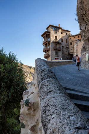 castilla la mancha: Hanging houses (Casas Colgadas) in Cuenca, Castilla La Mancha, Spain Editorial
