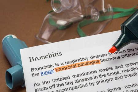 Bronchitis treatments, medical concept