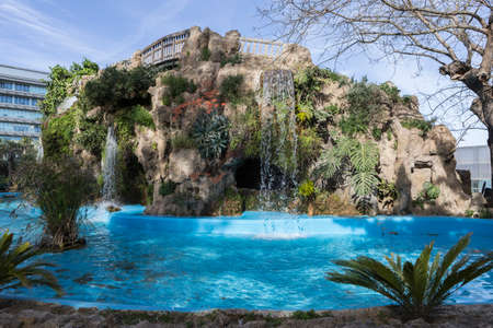 Small lake in the Genoves Park, Cadiz, Andalusia, Spain Stock Photo