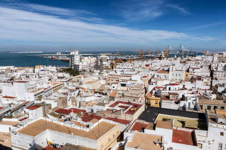 View of the historic center of Cadiz from the observation deck, take in Cadiz, Andalusia, Spain Stock Photo