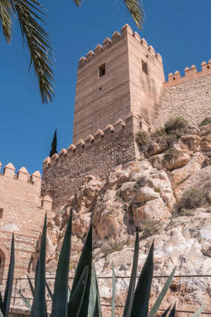 popular: Medieval moorish fortress Alcazaba in Almeria, Eastern tip is the bastion of the outgoing, Andalusia, Spain