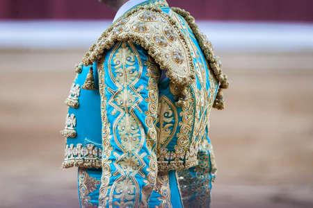 Detail of the bullfighter dress in the bullring, Spain