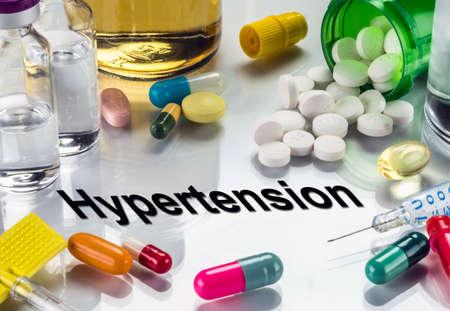 Nadciśnienie tętnicze, leki jako koncepcja zwykłego leczenia, obraz koncepcyjny