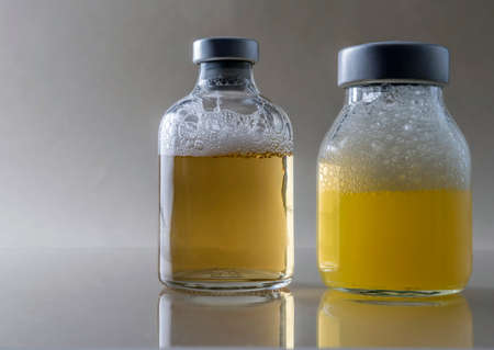 Medicine In Vials, Ready For Vaccine Injection Stock Photo
