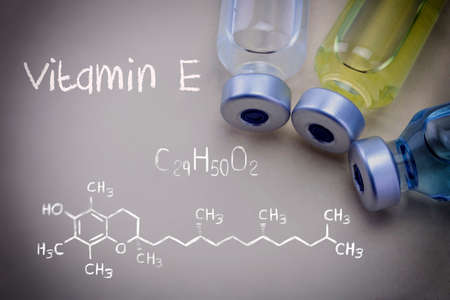 Formula Chemical Vitamin E together with different vials
