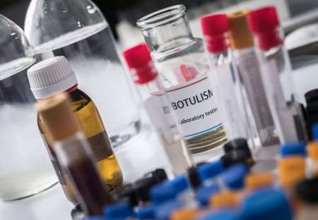 Botulism samples in laboratory, conceptual image