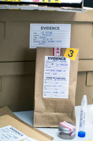 Various laboratory tests forensic equipment, conceptual image