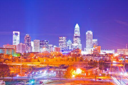 looking at big metropolitan city at night
