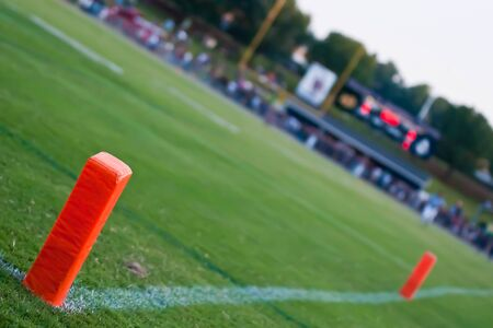 american football touchdown marker Banco de Imagens