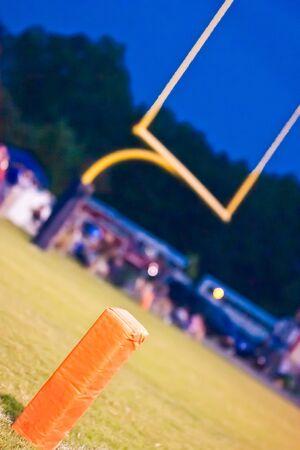 voetbal touchdown marker en het doel