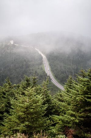 from atop Mount Mitchell - the highest point in the USA east of the Mississippi River