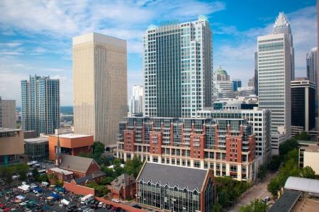 Ein Blick auf die Skyline der Innenstadt von Charlotte, North Carolina