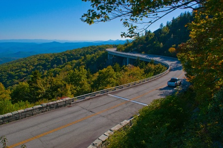 The Linn Cove Viaduct  Part of the Blue Ridge Parkway near Grandfather Mountain, North Carolina  photo