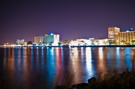 wilmington nachts Stockfoto