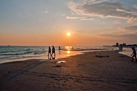 ビーチは、パナマ シティ フロリダのビュー 写真素材