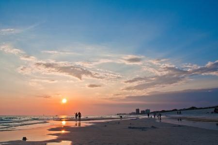 panama city beach: Vista di una spiaggia, Panama citt� della Florida Archivio Fotografico