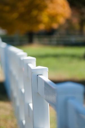 white vynil fence